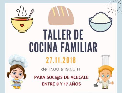 Taller de Cocina Familiar sin gluten