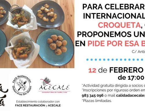 Taller de Croquetas Sin Gluten para celebrar el día Internacional de la Croqueta