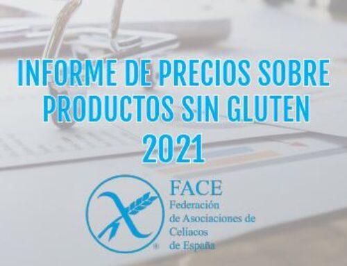 Informe de precios sobre productos sin gluten 2021